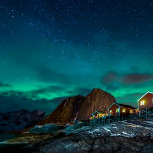 Hamnoy_northern light